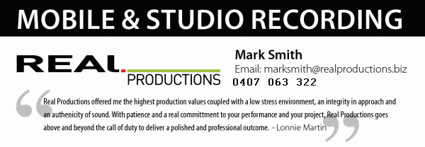 Real Productions sound recording studio brisbane